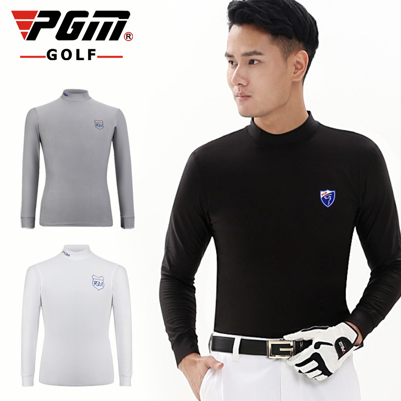 PGM Polo Tshirt Mens Long Sleeved Golf Shirt Milk Clothing Dry Fit Warm Spring Autumn Winter Shirt Male Apparel Ropa De Golf