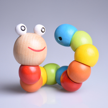 Infant Baby Toys Wood Rattles Kids Early Education Toys for Infant Boys Girls Leaning Color Number
