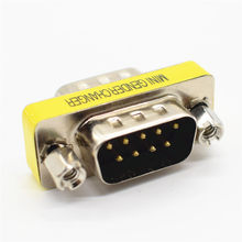 DB9 9Pin macho a macho Mini Gender Changer adaptador Serial RS232 conector hembra a macho d-sub conectores(China)