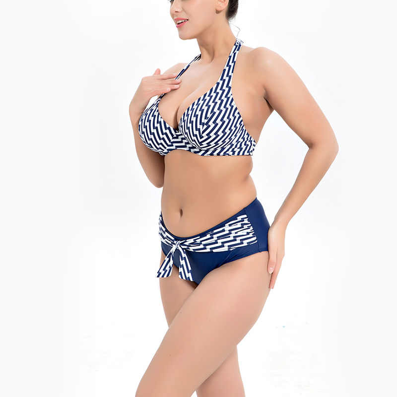 Large 6xl Swimwear Halter Plus Up High Bikinis 2019 Sexy Big Female For New Swimsuit 5xl Womens Vintage Women Size Bikini Push VzMGLpqSU