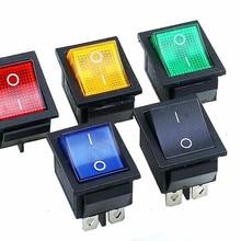 KCD4 вкл.-ВЫКЛ. 16A 250VAC/20A 125VAC Красный кнопочный переключатель 4 Pin кулисный переключатель питания