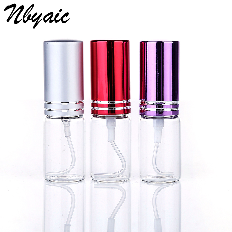 5Pcs Mini Portable 10ml Perfume Spray Bottle Spray Bottle Reusable Empty Cosmetic Container Travel Lady Pull Tube Empty Bottle