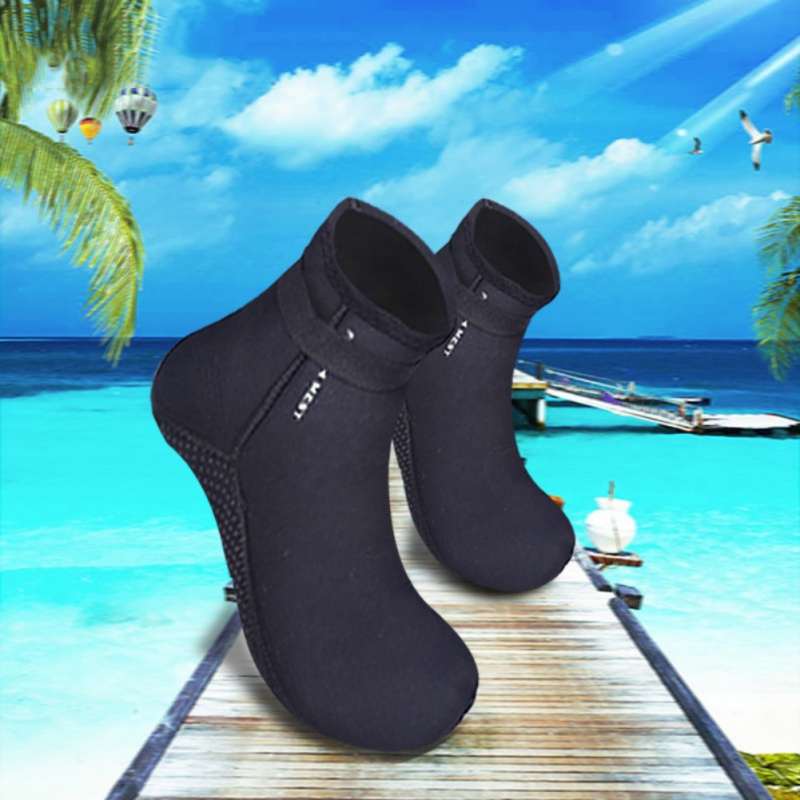 3MM Thicken Diving Socks Diving Boots for Surfing Snorkeling Winter Swimming Socks Neoprene Non-Slip Warm Seaside Shoes New soumit 5 colors professional yoga socks insoles ballet non slip five finger toe sport pilates massaging socks insole for women