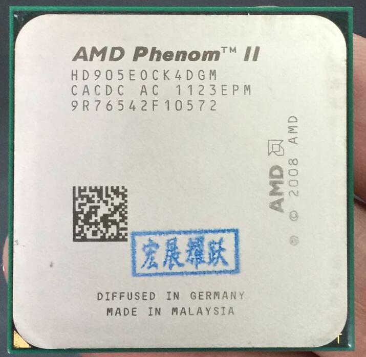 AMD  Phenom II X4 905E  X905E  65W  Quad-Core AM3 938 CPU 100% Working Properly Desktop Processor
