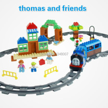 HM1318 thomas and friends train track set duplo block toys 103PCS original Building bricks block LEPIN/ LP GO duplo block