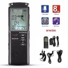 лучшая цена 8GB 16GB 32GB LCD screen Voice Recorder USB Professional 96 Hours Dictaphone Digital Audio Voice Recorder  Built-in Microphone