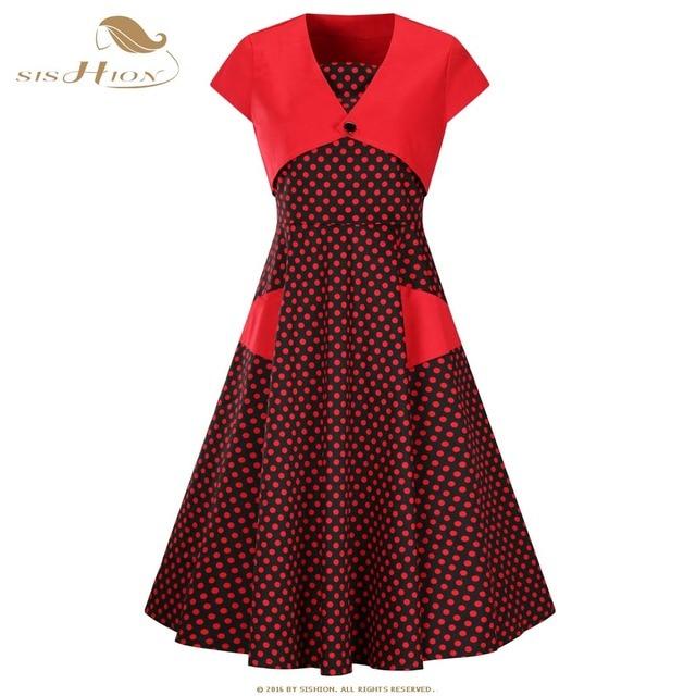 bd01a6ffbc4ff3 Sishion zwart rood dress met jas s 3xl plus size 1950 s 60 s stip ...