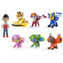 7Pcs/set Paw Patrol Dog Pup Air Rescue Puppies Skye Rubble Ryder Chase Action Figure Model Toy Children Gift