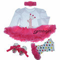 Spring NEW Born Batptism Baby Girl Dress Party Tutu Dresses Wedding Baby Dress 1 Year Birthday Clothes Set Vestido Bebe Infantil