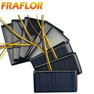 Image 3 - 100 Teile/los 5V 60mA 68*37 Polykristalline Silizium Solar Panel Solarzelle Placa Solar 5V Batterie DIY panneau Solaire Solar Module