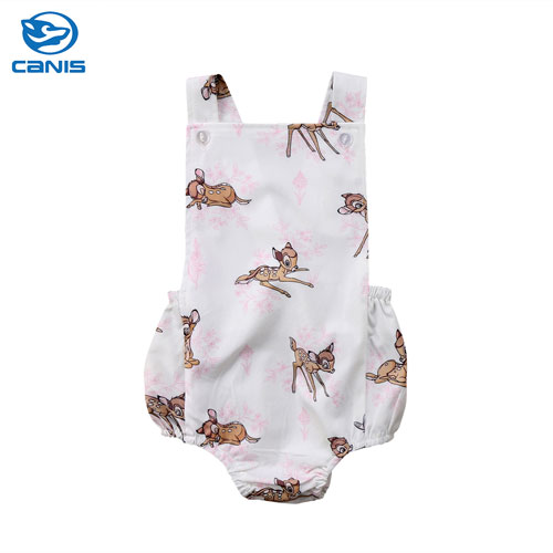 Baby Girls Summer Clothes Cute Newborn Baby Girl Rompers Deer Sleeveless Romper Cotton Romper Jumpsuit Outfits Playsuit цена