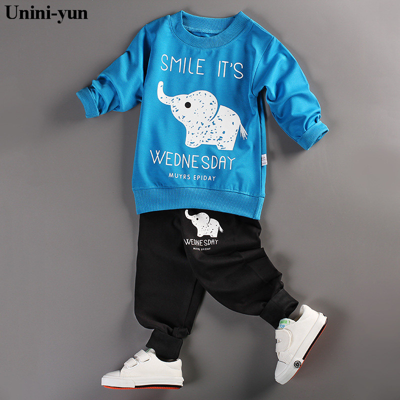 new Infant Baby Clothing Sets Boy Long Sleeve Spring Autumn Outfits Set Toddler elephant Suits Baby Girls newborn Clothes set