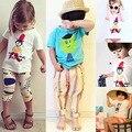 2016 Summer Sole Customized Han Banchun Summer Wear Male Girl In Children Cartoon T-Shirt  Unlined Upper Short Joker