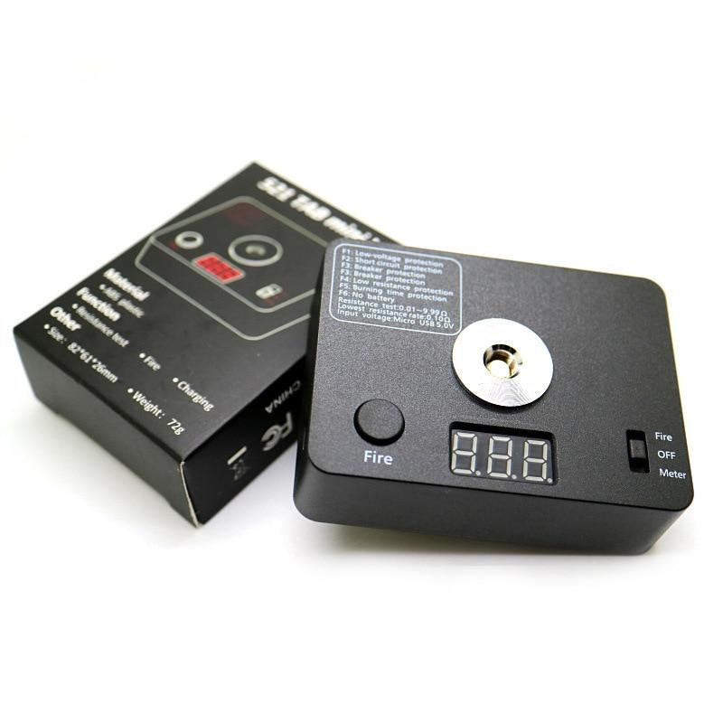 Subtwo Rda Resistance Tester OHM Meter 521 TAB LED Coil Wire DIY Tool For E Cigarette 510 Thread RDA RBA DIY Tank
