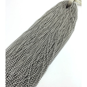 Image 2 - 100pcs Ball Chain 50/55/60/65/70cm Necklace 2.4mm Bead Chain Stainless Steel Diy Jewelry Making Fittings High Quality Wholesale