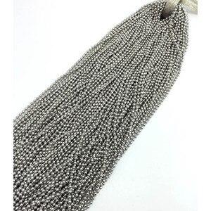 Image 2 - Cadena de bolas de acero inoxidable, accesorios para fabricación de joyas, 50/55/60/65/70cm, 100 unidades, venta al por mayor