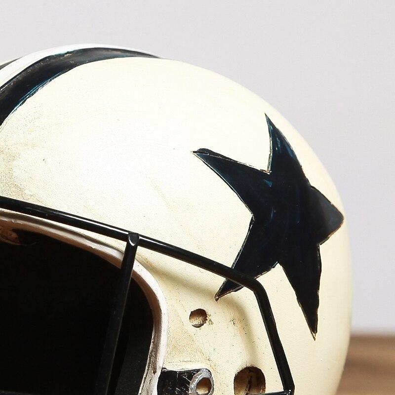 Retro American football cap Creative furnishing articles Photo Props helmets Model furniture Windows decoration