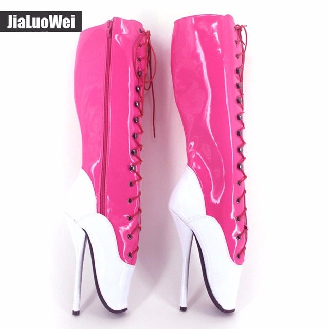 Jialuowei Extreme High Heel 18cm BALLET Knee High Boots fetish ...