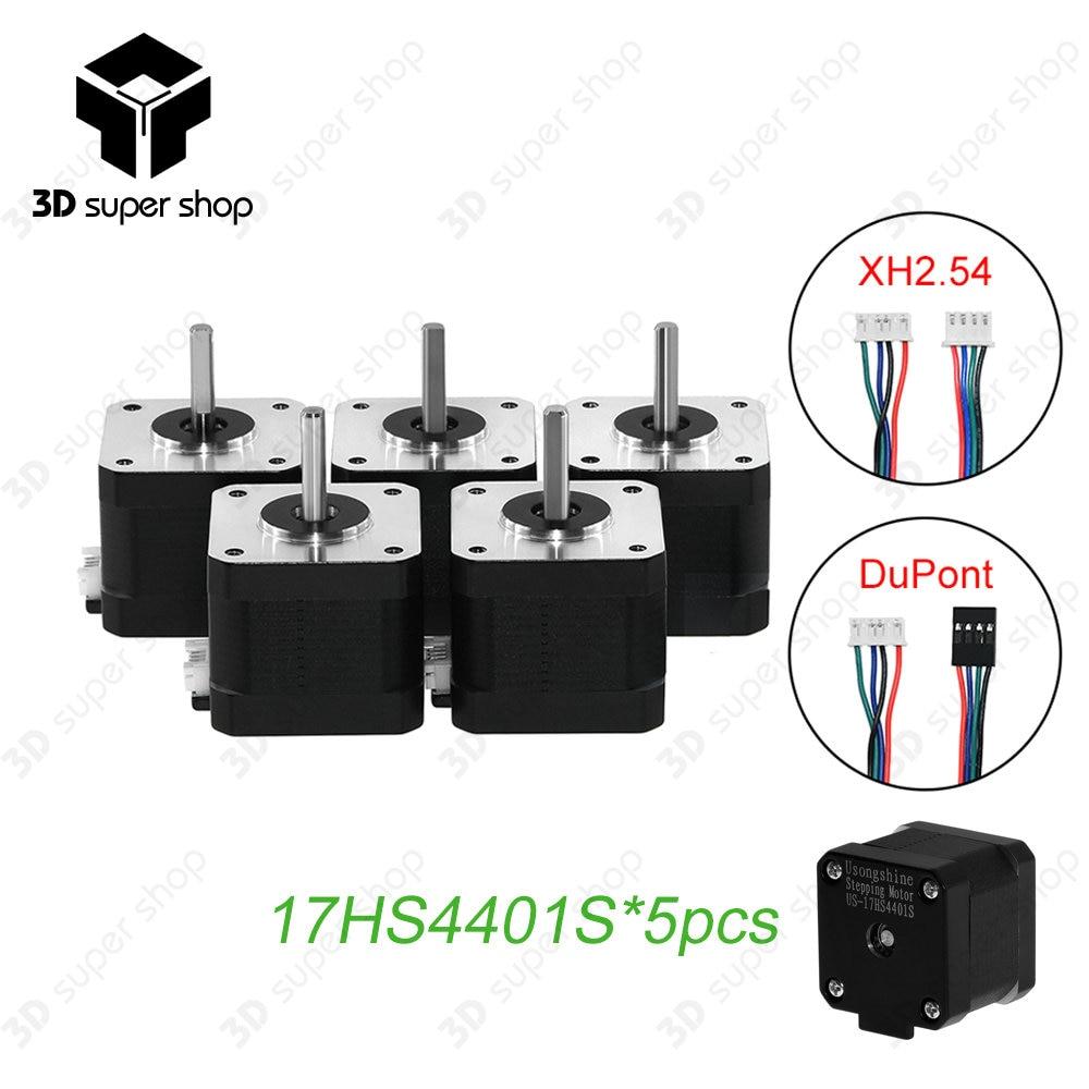 5pcs/lot.17HS4401S 3D printer 4-lead Nema17 Stepper Motor 42 motor Nema 17 motor 42BYGH 1.7A 17HS4401S motor for CNC XYZ 3pcs lot 17hs4401s v5 v6 4 lead nema17 stepper motor 42 motor nema 17 motor 42bygh 1 5a 17hs4401s for cnc
