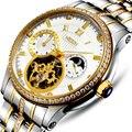 Switzerland NESUN  роскошные Брендовые Часы со скелетом и бриллиантом  Мужские автоматические часы  водонепроницаемые часы 100 м  N9093-2