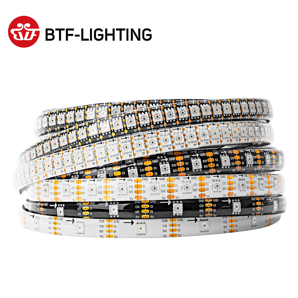1m/5m SK9822 (similar APA102) 30/60/144 leds/pixels/m, led digital strip individual addressable waterproof IP30/IP65/IP67 DC5V