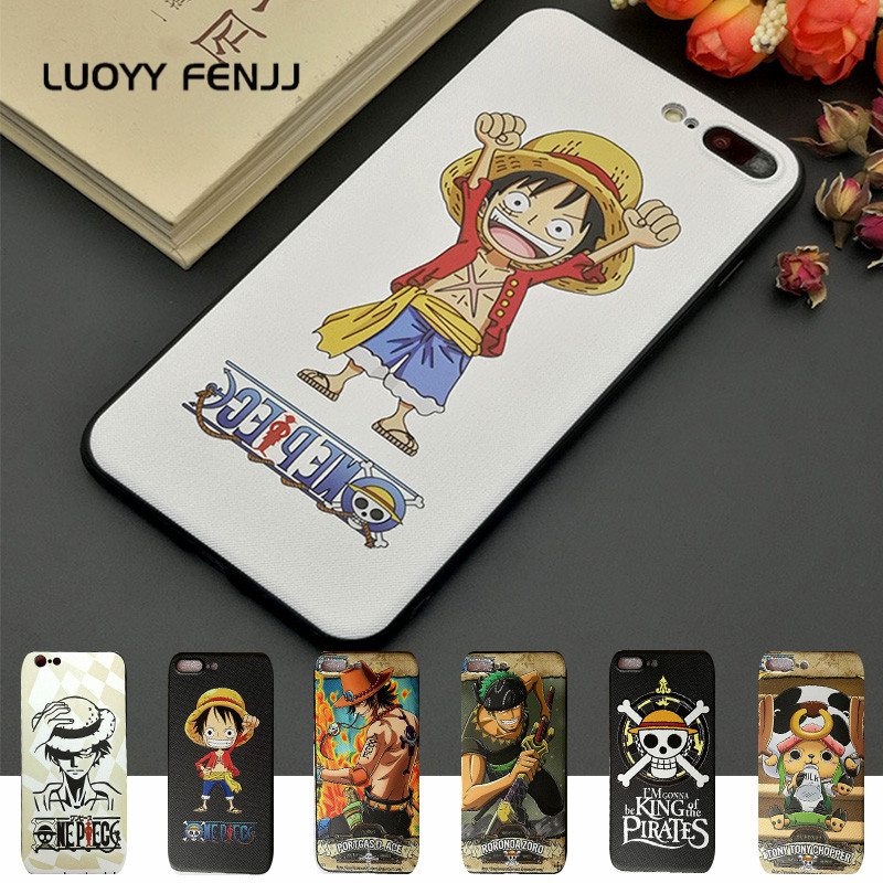 LUOYY FENJJ One Piece Matte Silicone Case For iPhone 6 6s 7 Plus Cover Soft TPU Protect Phone Case For iPhone 7 8 Plus X Coque