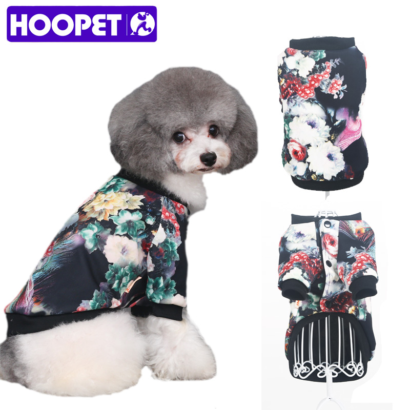 ᗔHoopet mascota Perros ropa colorido impreso chaqueta color ...