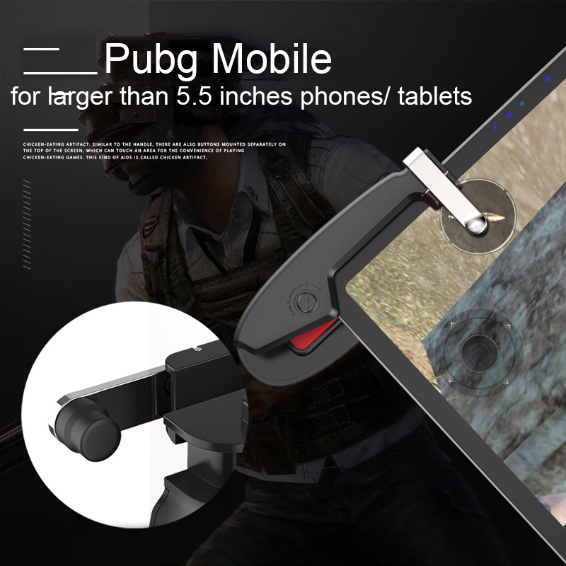 Купить с кэшбэком Tablet Dzhostik Mobile Shooting Game Gamepad Controller Triggers For Cell Phone L1R1 Triggers Fire Button Joystick For Pubg