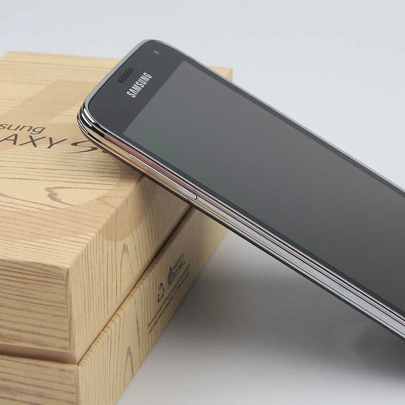 Asli Samsung Galaxy S5 Ponsel I9600 G900A G900V G900F G900T G900H GPS WIFI 5.1 Inci 16MP Snapdragon 801 S5 smartphone