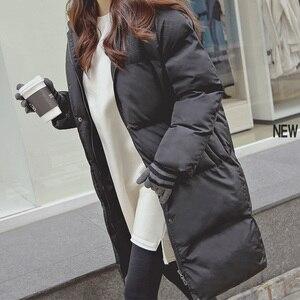 Image 2 - Модная зимняя куртка для женщин 2020 повседневное длинное зимнее пальто женское черное размера плюс женская парка casaco feminino jaqueta feminina