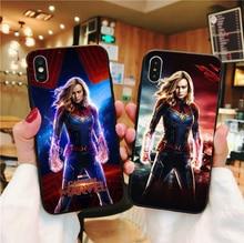 Marvel Avengers Captain marvel black Soft TPU silicone Phone Case For iPhone X XS MAX XR 6 6S Plus 7 7 Plus 8 8 Plus 5S SE 5 wonder bear