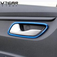 Vtear для Kia Rio 4 X-Line Внутренняя дверь тянуть крышка интерьер чаша круг автомобиль-Стайлинг Интерьер Аксессуары для формовки часть 2017