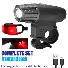 Motorcycle Signal Lamp Rechargeable Cycling Light 5000 Lumen 8.4V Bicycle Bike LED Front Rear Set