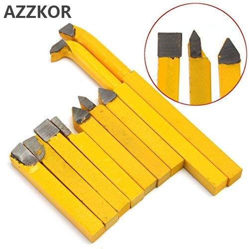 Alloy Carbide Brazed Tipped Lathe Tools Turning Milling Welding Bit Alloy Turning Tool 8*8 Yellow Welding Instrument Lathe Knife