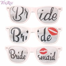 FENGRISE Bride and Groom Wedding Party Glasses Groomsman Bridesmaid Gift Bridal Shower Supplies Bachelorette Hen Favor