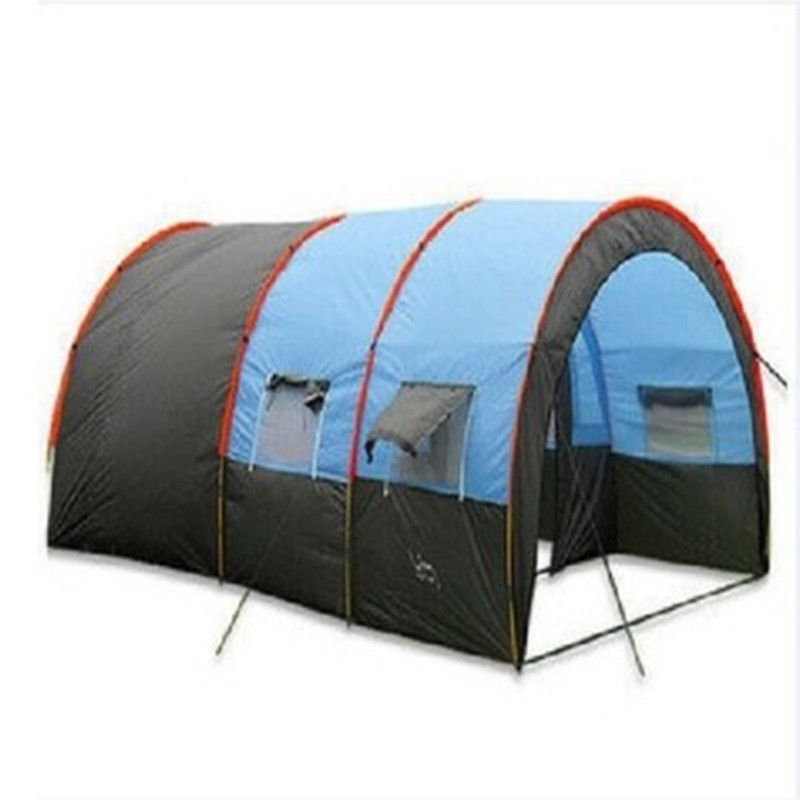 Utralarge 5-8 person use one hall one bedroom waterproof family party outdoor camping tunnel tent in one person