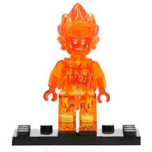 Tocha humana Figura Única Venda Marvel Fantastic Four Building Blocks Define Modelos de Super Heróis Brinquedos Tijolo JR136