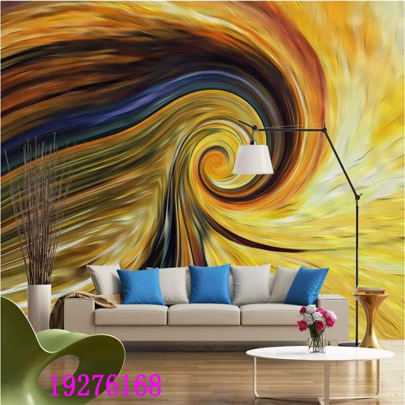Papier peint personnalisé 3D moderne abstrait Van Gogh Style couleur spirale Mural papier peint 3D fonds d'écran pour salon chambre murs 3D