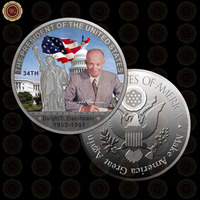 WR Home Decoration Accessories American Souvenir Gifts Dwight D Eisenho US President Metal Coin Quality Art Crafts 40mm