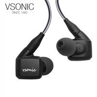 NEW VSONIC NEW GR07 BASS CLASSIC Interchangeable Cable High Dynamic Noise Isolation Earphones