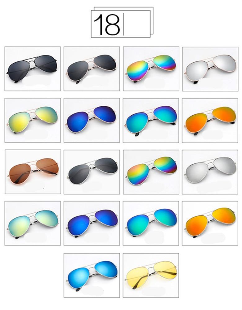 ASUOP2018 new ladies retro cat eye sunglasses luxury brand fashion men's pilot glasses UV400 night vision goggles night vision goggles (9)