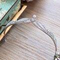 Fashion High quality European Brides Cubic Zirconia Tiara Headpieces Evening Pearls Crown Hair Accessories