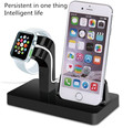 2 in 1 Stand Charging Station with Charger Dock for Apple Watch iPhone 7 7plus 6 6s 6plus 5c charger dock desktop station