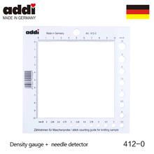 Addi 412-0 wielofunkcyjny rozmiar Marker gęstość gauge Needle Gauge detektor biała plastikowa linijka board knitting pomiar importowane tanie tanio Z tworzywa sztucznego