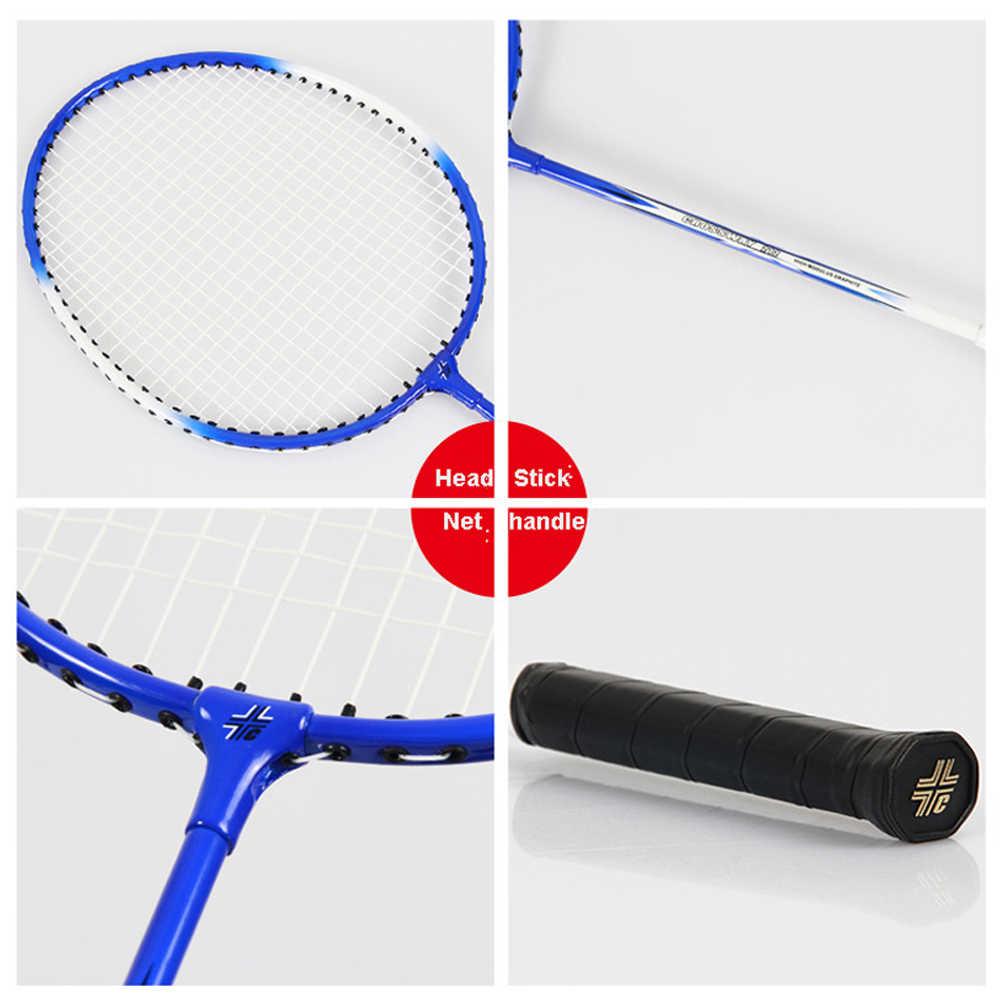 Crossway Badminton Rackets Ferroalloy raquette de badminton with Badminton Shuttlecock & Bag Fitness Equipment with bag