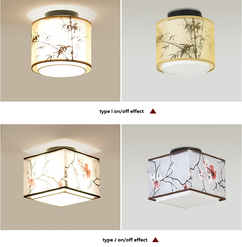 LED Ceiling Lights for Living Room | Living Room Ceiling Lights | Hot 17 Types Chinese Style LED Light Ceiling E27 110V 220V Fabric Ceiling Lamp for Living Room Aisle Balcony Porch