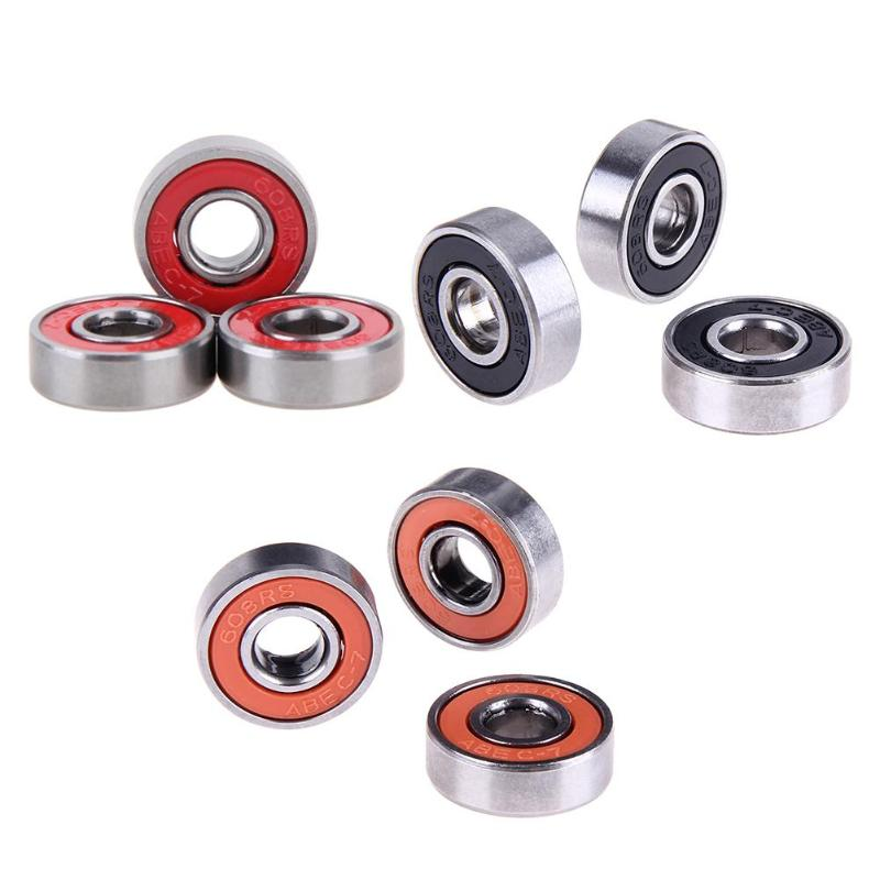 10pcs 608rs Deep Groove Steel Wheel Bearings For Skateboard Stunt Sliding Scooter Quad Inline Skate Toy Accessaries