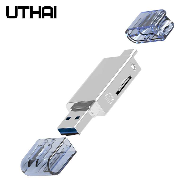 UTHAI D39 For HUAWEI NM Card Reader Type-C to Micro SD/USB3.0 Adapter For Nano Memory Card 128G 90mb/s Read For Mate 20 Pro P30(China)