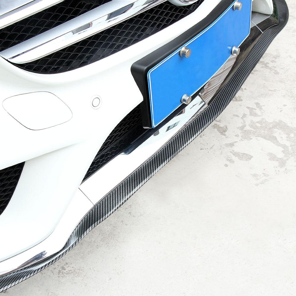 Car Carbon Fiber Front Lip Side Skirt Body Trim Bumper For
