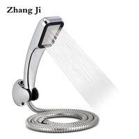 סט ראש מקלחת ABS 300 חורים עם צינור נירוסטה ופלסטיק מחזיק מקלחת חיסכון במים בלחץ גבוה מקלחת יד ZJ026
